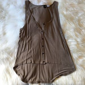 ⭐️4 for $15⭐️H&M Taupe High-Low Tank Top Sz 10